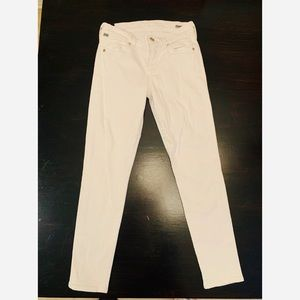 Citizens of Humanity White Ankle Jeans